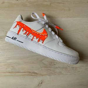 Orange drip customized AF1 NWT